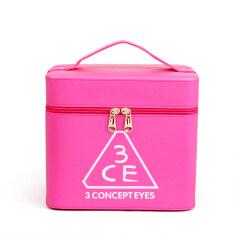 ขาย ซื้อ สี่เหลี่ยมเล็กๆกล่องเครื่องสำอางค์น่ารักกระเป๋าเครื่องสำอางแบบพกพาความจุขนาดใหญ่