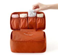 ราคา กระเป๋าเก็บชุดชั้นในและของใช้แบบพกพา สีส้ม Unbranded Generic กรุงเทพมหานคร