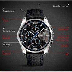 ส่วนลด ของผู้ชายยี่ห้อ กันน้ำหนังแฟชั่นธุรกิจโครโนกราฟเคลื่อนไหวนาฬิกา จีน