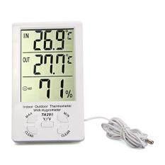 ซื้อ นาฬิกา ความชื้นเครื่องวัดอุณหภูมิอุณหภูมิดิจิตอลแอลซีดีในเครื่องวัดไฮโกรมิเตอร์ กลางแจ้ง Unbranded Generic ออนไลน์