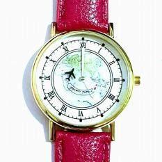 นาฬิกาแฟชั่นแผนที่โลก สายหนังเทียมนุ่มมาก เข็มวินาทีเป็นเครื่องบิน บินวนรอบโลก เข้ากับเสื้อผ้าทุกแนว เก๋เท่ก็ได้ น่ารักก็ได้ เป็นต้นฉบับ