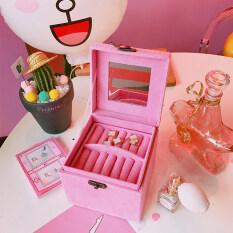 ราคา ฮาราจูกุกล่องเครื่องประดับญี่ปุ่นสีชมพูห้องนอนสาว Other เป็นต้นฉบับ