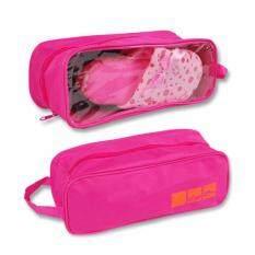 โปรโมชั่น กระเป๋าใส่รองเท้ากีฬา แบบพกพากันน้ำ ระบายอากาศ กระเป๋าเอนกประสงค์ สีชมพู