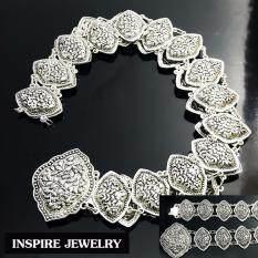 ทบทวน Inspire Jewelry เข็มขัดเทียมเงิน ตอกลายนูนต่ำ สวยหรู สง่างาม พร้อมถุงซิบใสขุ่นไว้เก็บ เหมาะกับชุดไทย ผ้าฝ้าย การะเกตุ บุพเพสันนิวาสT