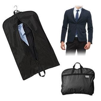 สีดำเสื้อนอกเสื้อสูทแต่งตัวเก็บกระเป๋าไม้แขวนเสื้อคลุมป้องกันผู้ท่องเที่ยว-Intl