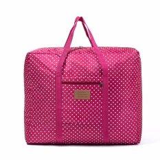 ราคา กระเป๋าเดินทางพับได้ลายจุดน่ารัก ขนาดใหญ่ ใหม่ล่าสุด