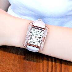 นาฬิกาควอตซ์สตรีตกแต่งด้วยอัญมณี สไตล์สาวเกาหลี.