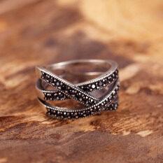 ราคา แหวนยุโรปและอเมริกาเงินชุบเลียนแบบแหวนหญิง ราคาถูกที่สุด