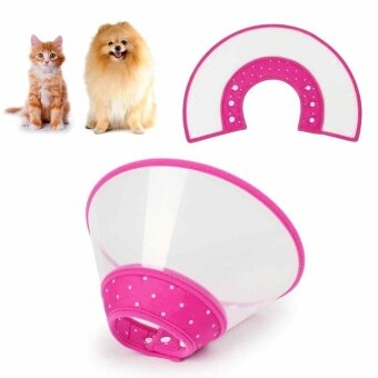 Protective Collar Funnel Pink Pet Dog Cat Anti-Bite Lick Wound Healing Safety - intl