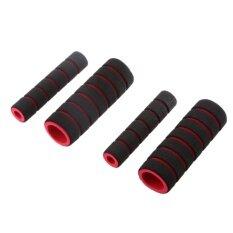 ทบทวน Q Shop 4 ใน 1 รถจักรยานยนต์ Foam Nonslip Handlebar ชุดสีแดง