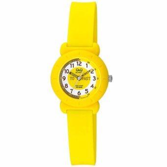 QQ นาฬิกาข้อมือเด็ก สีเหลือง สายยาง รุ่น VP81J012Y
