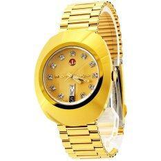 ราคา Rado Diastar Automatic นาฬิกาข้อมือสุภาพบุรุษ 11 พลอย สายทอง รุ่น R12413493 หน้าทอง ใน พะเยา