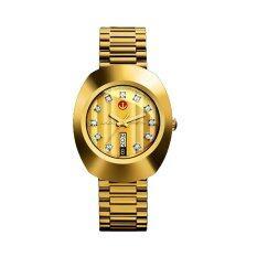 ราคา ราคาถูกที่สุด Rado Diastar Automatic นาฬิกาข้อมือสุภาพบุรุษ พลอยคู่ 11 เม็ด สายทอง รุ่น R12413493
