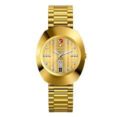 ส่วนลด สินค้า Rado Diastar Jubile Automatic นาฬิกาข้อมือสุภาพบุรุษ เพชรแท้ 15 เม็ด สายทอง รุ่น R12413703 หน้าทอง
