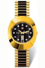 ราคา Rado Diastar นาฬิกาข้อมือผู้ชาย สายสแตนเลส Automatic Watch รุ่น R12413614 เรือนทอง คาดดำ ที่สุด