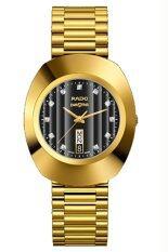 ส่วนลด สินค้า Rado Diastar นาฬิกาข้อมือผู้ชาย สายสแตนเลส Quartz รุ่น R12304313 ทอง หน้าปัดดำ