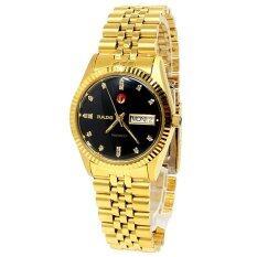 ซื้อ Rado Voyager Automatic นาฬิกาผู้ชาย ขอบหยัก หน้าดำ สายทอง รุ่น 636 4017 2 061 Black Rado ออนไลน์