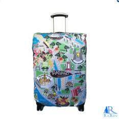 ซื้อ Rarin ผ้าคลุมกระเป๋าเดินทางลาย Bkk Map Size M 24 26 นิ้ว ออนไลน์