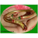 ซื้อ Reayajewelry กำไลข้อมือพญานาค ลงยา 2 สี เขียวแดง ออนไลน์