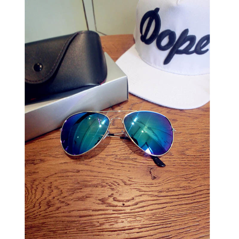 Reflective sunglasses personality the color frog mirror the sun glasses----silvery