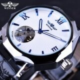 Relogios Masculinos Gold Mechanical Watches Golden Automatic Skeleton Relogio Masculino New Winner Brand Men Watches Intl จีน