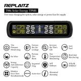 ซื้อ Replaitz Car Tyre Pressure Monitoring System Solar Power Charging Auto Security Alarm Systems Black Intl ถูก