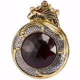 ซื้อ Retro Classic Fashion Bronze Golden Hunter Dragon Red Crystal Cover Case Men Lady Quartz Pocket Watch Fob Chain Jewelry Wpk043 นาฬิกาข้อมือ ชายและหญิง Intl ใหม่ล่าสุด