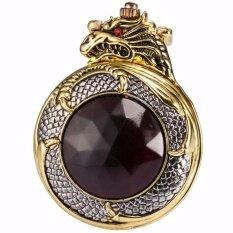 ขาย Retro Classic Fashion Bronze Golden Hunter Dragon Red Crystal Cover Case Men Lady Quartz Pocket Watch Fob Chain Jewelry Wpk043 นาฬิกาข้อมือ ชายและหญิง Intl ออนไลน์ ใน Thailand
