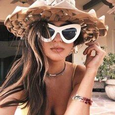 โปรโมชั่น Retro Sun Glasses Female Vintage Women Sunglasses Cateye Designer Eyeglasses G*rl Oculos Feminino Sun Glasses Red Intl