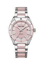 ราคา Rhythm นาฬิกาข้อมือสตรี สายเซรามิก รุ่น F1207T03 สีชมพู Rhythm เป็นต้นฉบับ