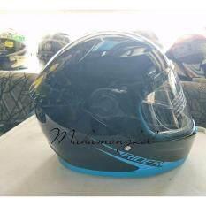 โปรโมชั่น หมวกกันน็อค Rider R1 No 2 สีฟ้า ดำเงา Rider Helmet ใหม่ล่าสุด