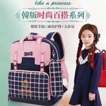 Ridge กระเป๋าเป้สะพายหลังนักเรียนสาว, 6-12 ปี, สาวเกาหลี, กระเป๋านักเรียน, เกรด 2-5