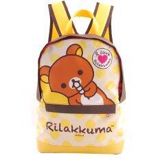 โปรโมชั่น Rilakkuma กระเป๋าเป้ กระเป๋าสะพายหลัง กระเป๋านักเรียน สีน้ำตาลคาดเหลือง ใน ไทย