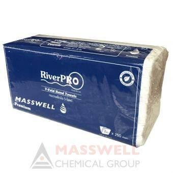 RiverPro กระดาษเช็ดมือสีขาว รุ่นV-Fold PREMIUM 2-Ply (24แพ็ค) ขายยกลัง-