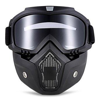 ROBESBON MT-009 แว่นตารถจักรยานยนต์ที่ถอดออกได้และปากกรอง Harley สไตล์ป้องกัน Padding แว่นตากันแดด