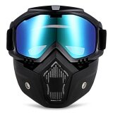 ราคา ราคาถูกที่สุด Robesbon Mt 009 Motorcycle Goggles With Detachable Mask And Mouth Filter Harley Style Protect Padding Helmet Sunglasses Intl