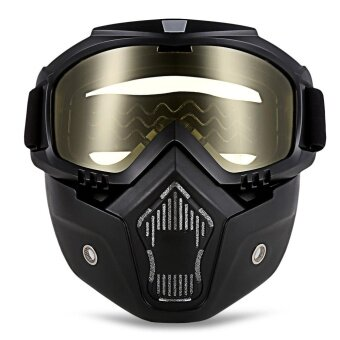 ROBESBON MT-009 รถจักรยานยนต์แว่นตาหน้ากากที่ถอดออกได้และปากกรองฮาร์เลย์สไตล์ปกป้องเบาะแว่นตากันแดด-นานาชาติ