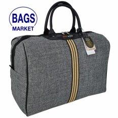 ส่วนลด Romar Polo กระเป๋าเดินทาง กระเป๋าถือ กระเป๋าใส่เสื้อผ้า ขนาด 18 นิ้ว Style Vintage Canvas Code R522018 3 Grey Romar Polo