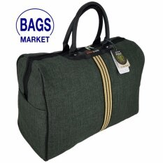 Romar Polo กระเป๋าเดินทาง กระเป๋าถือ กระเป๋าใส่เสื้อผ้า ขนาด 18 นิ้ว Style Vintage Canvas Code R522018 4 Dark Grey เป็นต้นฉบับ