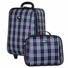 ราคา Romar Polo กระเป๋าเดินทาง 20 14 นิ้ว เซ็ทคู่ Code 373 5 Scott Blue เป็นต้นฉบับ