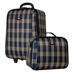 ขาย ซื้อ Romar Polo กระเป๋าเดินทาง 20 14 นิ้ว เซ็ทคู่ Code 373 8 Scott Blue Cream กรุงเทพมหานคร