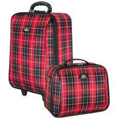 ซื้อ Romar Polo กระเป๋าเดินทาง 20 14 นิ้ว เซ็ทคู่ รุ่น Scotch Classic 91020 Red