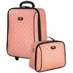 ราคา Romar Polo กระเป๋าเดินทาง เซ็ทคู่ 20 นิ้ว 14 นิ้ว รุ่น Polo Classic 90720 Pink ราคาถูกที่สุด