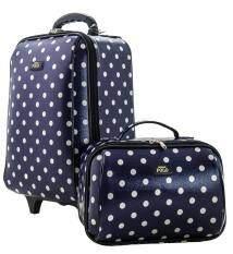 ทบทวน Romar Polo กระเป๋าเดินทาง เซ็ทคู่ ของแท้ขนาดสูง 16 นิ้ว 10 นิ้ว Code Dotcandy 72116 Blue Romar Polo