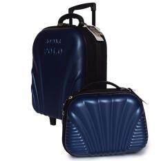 ส่วนลด สินค้า Romar Polo กระเป๋าเดินทาง เซ็ตคู่ 16 นิ้ว 12 นิ้ว รุ่น Polo 38316 ฺblue