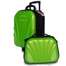 ขาย Romar Polo กระเป๋าเดินทาง เซ็ตคู่ 16 นิ้ว 12 นิ้ว รุ่น Polo 38716 Green Thailand
