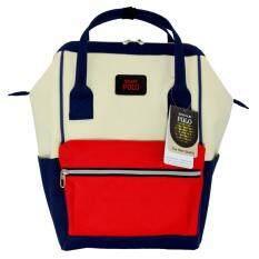ซื้อ Romar Polo กระเป๋าเป้สไตล์ญี่ปุ่น Rucksack Code 2501 Blue Red Cream ออนไลน์
