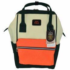 ราคา Romar Polo กระเป๋าเป้สไตล์ญี่ปุ่น Rucksack Code 2509 Green Orange Cream Romar Polo สมุทรปราการ