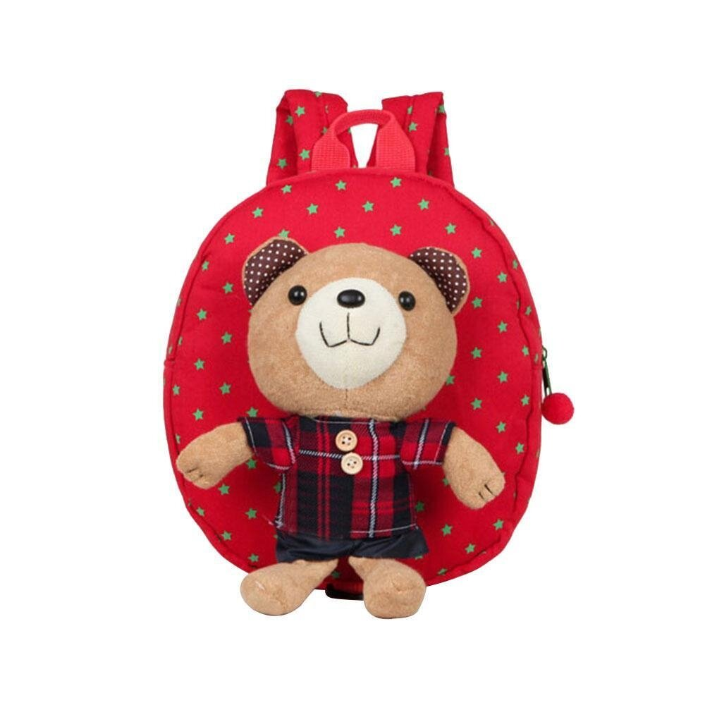 roortour Kids Toddler Backpack Children Walking Safety Harness Reins School Bag With Strap, Red - intl