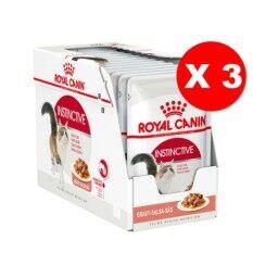 Royal Canin Instinctive Pouch Gravy (36 Pouches) โรยัลคานิน อาหารชนิดเปียกแบบซอง สำหรับแมวโตอายุ1ปีขึ้นไป (เกรวี่) 36ซอง/กล่อง )
